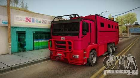 GTA 5 HVY Brickade для GTA San Andreas вид сзади слева