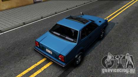 Honda Prelude 1980 для GTA San Andreas вид сзади
