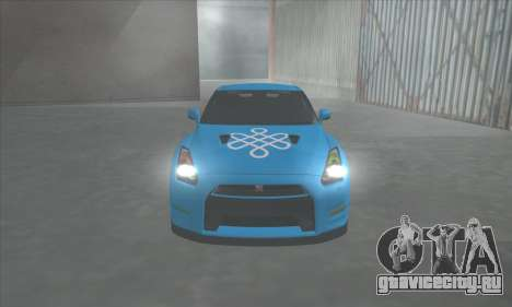Nissan GTR Egoist 2011 (Флаг Казахское ханство) для GTA San Andreas вид сзади