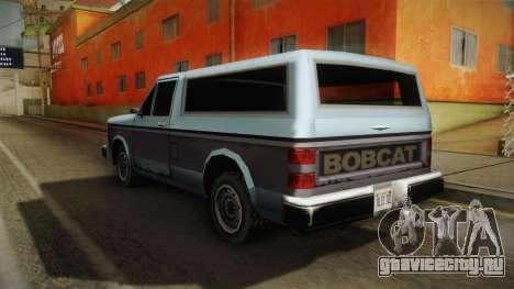 Bobcat XL для GTA San Andreas вид слева