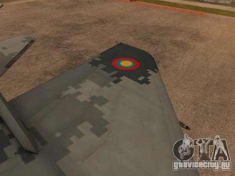 MIG-29 Armenian для GTA San Andreas вид снизу