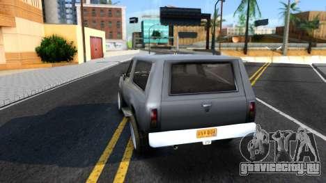 Land Roamer Driver Parallel Lines для GTA San Andreas вид сзади слева