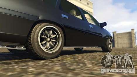 Opel Vectra A для GTA 5 вид сзади справа