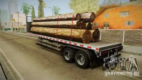 GTA 5 Log Trailer v1 для GTA San Andreas вид слева