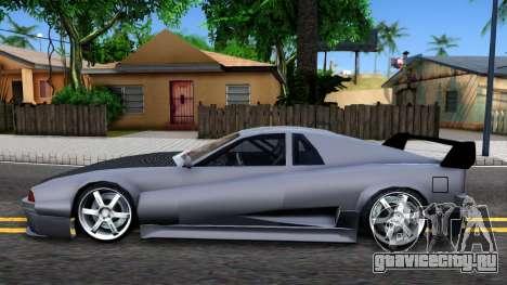 Str1keZs Cheetah для GTA San Andreas вид слева