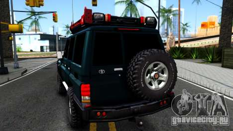 Toyota Land Cruiser 70 Off-Road V1.0 для GTA San Andreas вид сзади слева