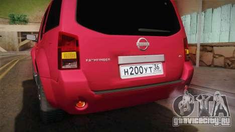 Nissan Pathfinder для GTA San Andreas вид сверху