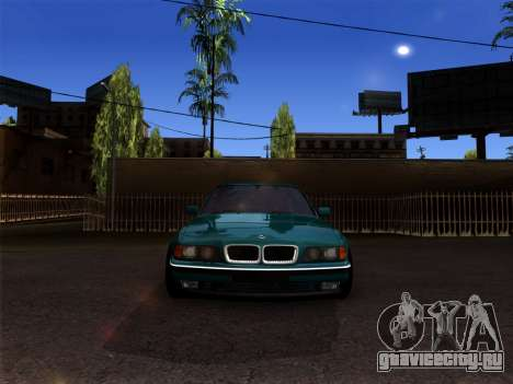 BMW 730i для GTA San Andreas вид сзади