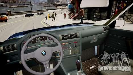BMW E30 325i 1989 Cabrio для GTA 4 вид изнутри