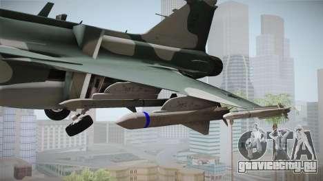 EMB J-39C Gripen NG FX-2 FAB для GTA San Andreas вид сзади