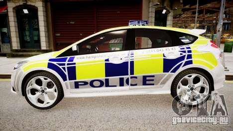 Ford Focus 2013 Swedish Police для GTA 4 вид слева
