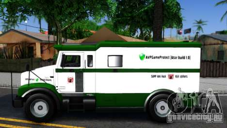 AVPGameProtect Security Car для GTA San Andreas вид слева