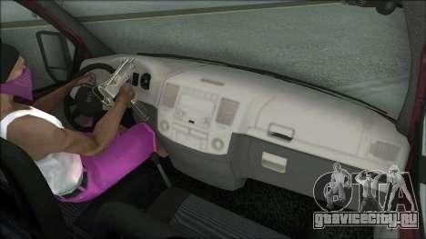 ГАЗель Бизнес 3302 для GTA San Andreas вид сзади