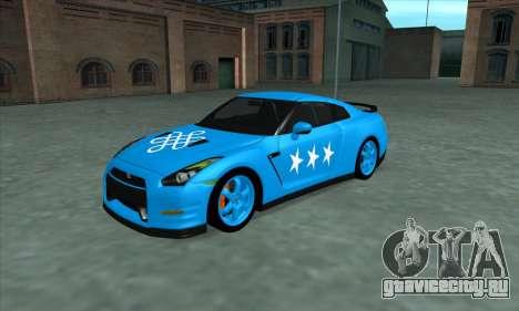 Nissan GTR Egoist 2011 (Флаг Казахское ханство) для GTA San Andreas салон