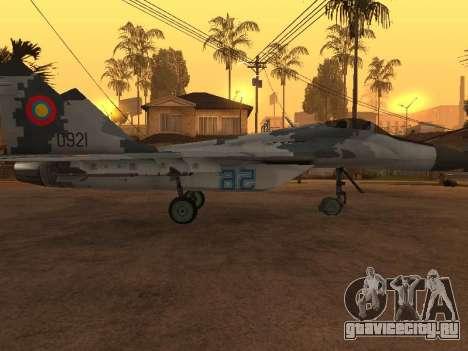 MIG-29 Armenian для GTA San Andreas колёса