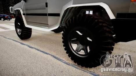 Patriot Jeep для GTA 4 вид сзади