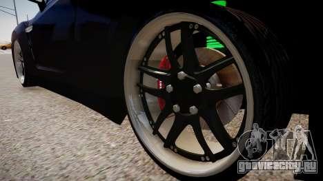 Nissan R35 GT-R для GTA 4 вид сзади