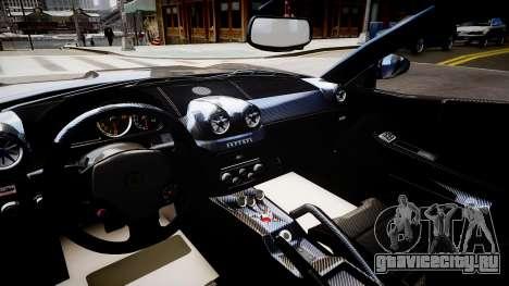 Ferrari 599 GTO для GTA 4 вид изнутри