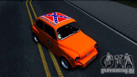 Zastava 850 Abarth General Lee для GTA San Andreas вид справа