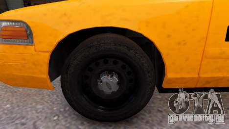 Taxi Nyc для GTA 4 вид сзади
