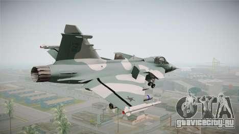 EMB J-39C Gripen NG FX-2 FAB для GTA San Andreas вид слева