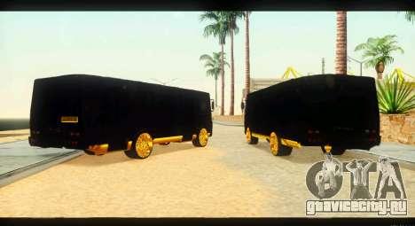 ПАЗ 4234 Elite Gold для GTA San Andreas вид сзади слева