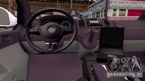 Volkswagen T5 Polish Ambulance для GTA 4 вид сзади