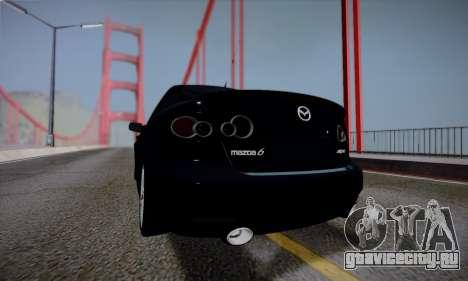 Mazda 6 MPS для GTA San Andreas вид снизу