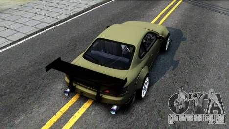 Nissan Silvia S15 Rocket Bunny для GTA San Andreas вид сзади