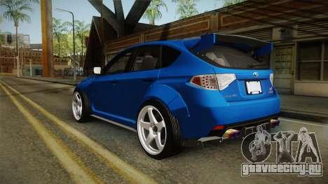 Subaru Impreza WRX STI Rocket Bunny для GTA San Andreas вид слева