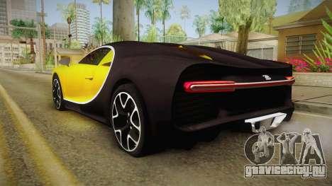 Bugatti Chiron 2017 v2 для GTA San Andreas вид слева