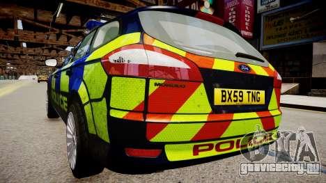 Ford Mondeo Estate police UK для GTA 4 вид сзади слева