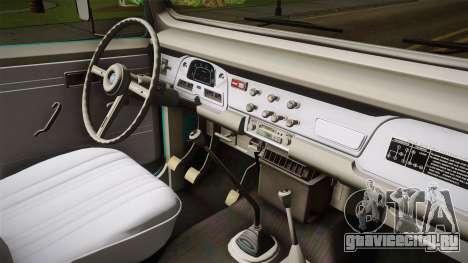 Toyota Land Cruise FJ40 Chasis Largo 1978 для GTA San Andreas вид изнутри