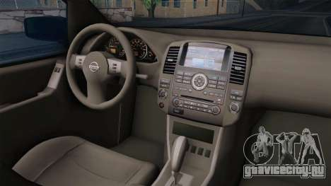 Nissan Pathfinder для GTA San Andreas вид изнутри