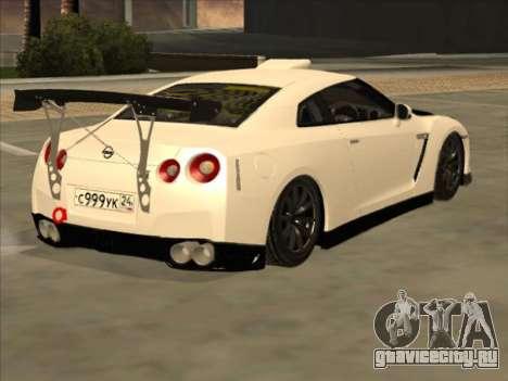 Nissan GT-R Drift JDM для GTA San Andreas вид справа