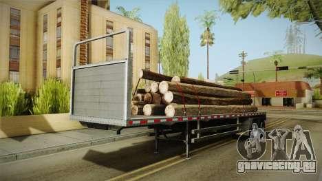 GTA 5 Log Trailer v2 для GTA San Andreas вид справа