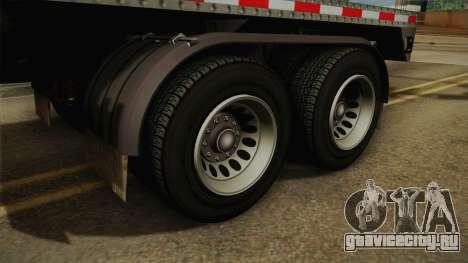 GTA 5 Log Trailer v1 для GTA San Andreas вид сзади