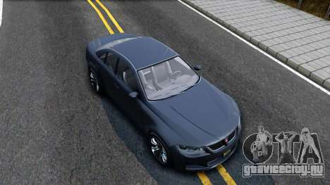 GTA V Ubermacth Sentinel Sedan для GTA San Andreas вид справа