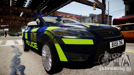 Ford Mondeo Estate police UK для GTA 4 вид справа