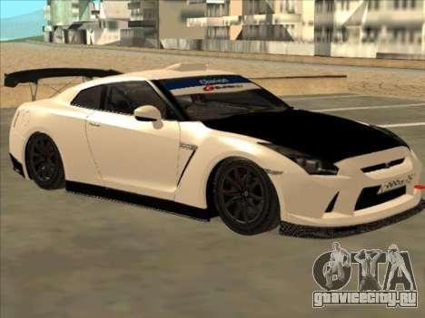 Nissan GT-R Drift JDM для GTA San Andreas вид сзади слева