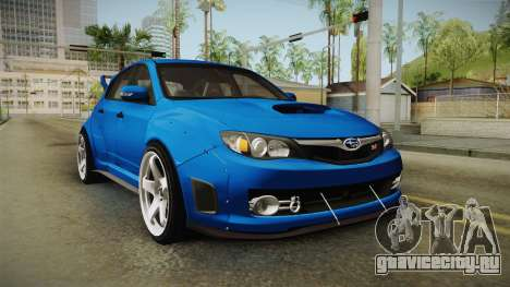 Subaru Impreza WRX STI Rocket Bunny для GTA San Andreas вид справа