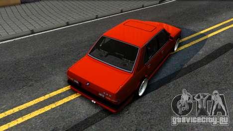 BMW E28 M5 для GTA San Andreas вид сзади