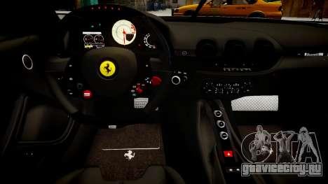 Ferrari F12 Berlinetta для GTA 4 вид изнутри