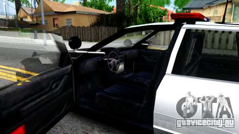 Ford Crown Victoria Police для GTA San Andreas вид изнутри