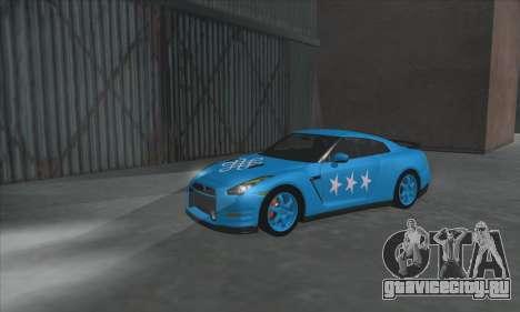 Nissan GTR Egoist 2011 (Флаг Казахское ханство) для GTA San Andreas вид слева
