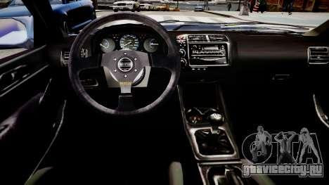 Honda Civic EK9 для GTA 4 вид изнутри