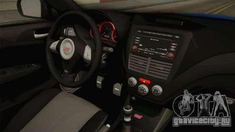 Subaru Impreza WRX STI Rocket Bunny для GTA San Andreas вид изнутри