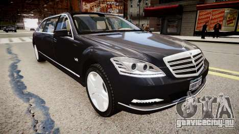 Mercedes-Benz S600 Guard Pullman 2011 для GTA 4 вид справа