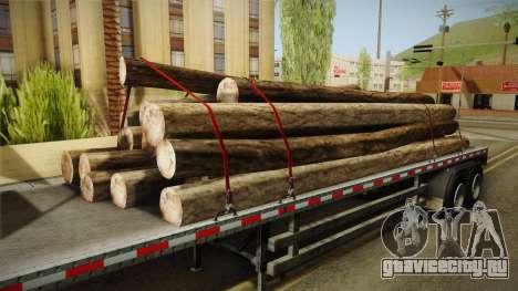 GTA 5 Log Trailer v2 для GTA San Andreas вид изнутри