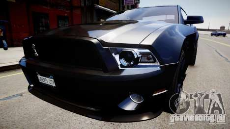 Ford Mustang Shelby GT500 2010 для GTA 4 вид справа